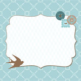 Beautiful Retro Card with photo frame. For invitation, greetings, congratulation, wedding Royalty Free Stock Photos