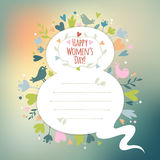 Beautiful retro card for Women's Day Royalty Free Stock Photos