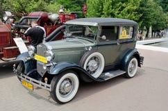 Beautiful retro cars on display in the Bogdan Khme Stock Image