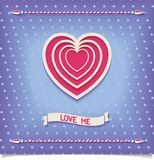 Beautiful retro design heart love me Stock Photography