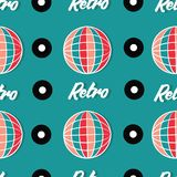 Beautiful retro disco design seamless pattern vector. For prints on paper, fabric or objects Royalty Free Stock Photo