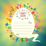 Beautiful Retro Easter Card With Symbols of Spring Stock Photos