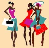 Beautiful Retro Fashion women set. Stock Photo