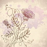 Beautiful retro flower Stock Images