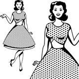 Beautiful retro girl in pop art style Royalty Free Stock Image