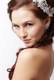 Beautiful retro girl Royalty Free Stock Photography