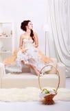 Beautiful retro girl Royalty Free Stock Photo