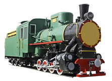 Beautiful retro locomotive. Royalty Free Stock Photos
