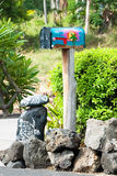 Beautiful retro mailbox on Hawaii Royalty Free Stock Photo