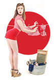 Beautiful Retro Pinup Girl in Pose Stock Photography