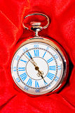 Beautiful retro pocket watch in box Stock Photo