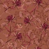 Beautiful retro Seamless pattern of soft and graceful oriental b royalty free illustration