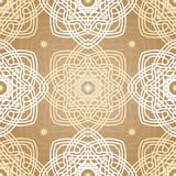 Beautiful retro seamless pattern tile, vintage texture. Ethnic ornaments. Flower Royalty Free Stock Photos