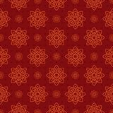 Beautiful retro seamless pattern, vintage texture. Red pattern with hearts. Royalty Free Stock Image