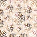 Beautiful retro seamless pattern, vintage texture. Volumetric pattern. Ethnic. Stock Image