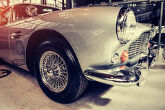 Beautiful retro silver car at the show Some. Car Stock Photos