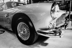 Beautiful retro silver car at the show Some. Car Stock Image