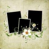 Beautiful retro spring frame Royalty Free Stock Image