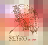 Beautiful retro umbrella Stock Image
