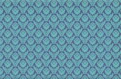 Beautiful retro wallpaper. Blue vintage damask wallpaper pattern stock photos