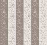 Beautiful retro wallpaper with floral pattern. Seamless wallpaper for your design stock illustration