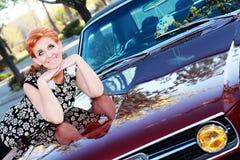 Beautiful Retro Woman Royalty Free Stock Photography