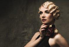 Beautiful retro woman Royalty Free Stock Images