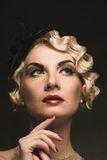 Beautiful retro woman royalty free stock photo
