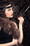 Beautiful retro woman Royalty Free Stock Photos