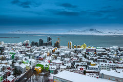 Beautiful Reykjavik city skyline Stock Photography