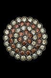 Beautiful rhinestone brooch royalty free stock photo