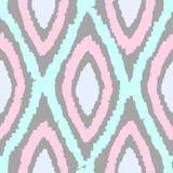 Beautiful rhombus seamless pattern. Vector hand drawn background Royalty Free Stock Image
