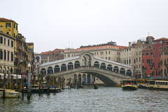 Beautiful Rialto Bridge Stock Images
