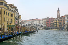 Beautiful Rialto Bridge Stock Photography