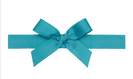 Beautiful ribbon bow  is out of turquoise braid Stock Image