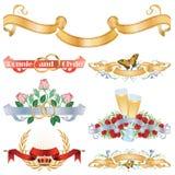 Beautiful ribbons for decoration design Stock Photos