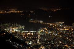 Beautiful Rio de Janeiro at night Brazil Royalty Free Stock Photo