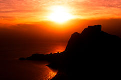 Beautiful Rio de Janeiro Sunset Stock Image