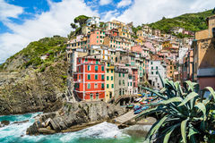Beautiful Riomaggiore fisherman village at Cinque Terre, Italy Royalty Free Stock Photography