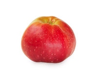Beautiful ripe apple Isolated on white. Stock Photo