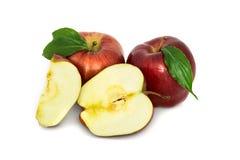 Beautiful, ripe, juicy apples on a white background. beautiful fruit without the background. apples. Stock Photo