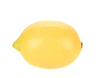 Beautiful ripe lemon. Royalty Free Stock Images