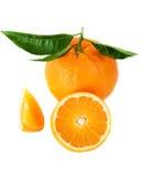 Beautiful, ripe oranges Stock Photos