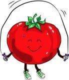 Beautiful ripe tomato jumping rope Stock Photo