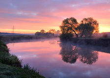 The beautiful river. Earlier morning on the beautiful river Royalty Free Stock Photography