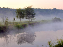 The beautiful river. Earlier morning on the beautiful river Stock Photo