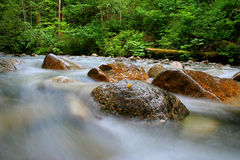 Beautiful river. Flowing creating a milky stream Royalty Free Stock Image