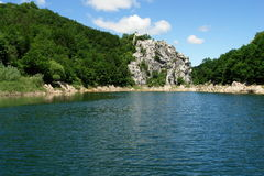 Beautiful river. Lika in Croatia stock photo