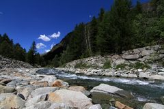 Alpine river Royalty Free Stock Images
