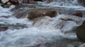 Beautiful river in the mountains stock video footage